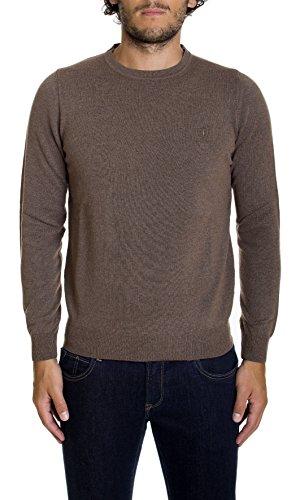 Trussardi Jeans | maglia Trussardi Jeans uomo giro collo regular fit fango - 52M130XX, Taglia: XXL