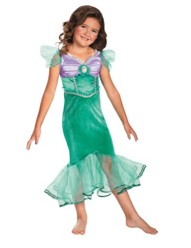 Baby-Toddler-Costume Ariel Sparkle Toddler Costume Classic 3T-4T Halloween