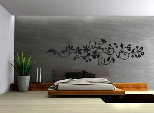 wandtattoo schlafzimmer die sch nsten ornamente und blumenmotive. Black Bedroom Furniture Sets. Home Design Ideas