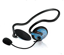 buy Cosonic Wired Behind The Neck Headphones£¬With Rotating The Microphone,3.5 Mm Stereo Plug,30 Mm Large Horn