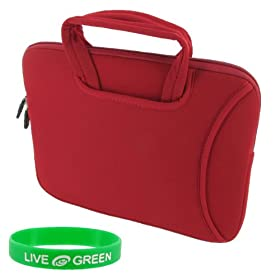 Lenovo S10 10.2-Inch Ideapad Tote Neorpene Sleeve Case - Red
