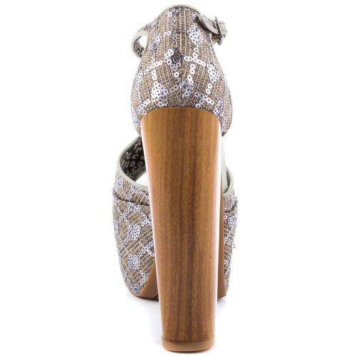 Jessica Simpson Women's Dany Platform Sandal,Pewter,7 M US