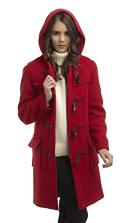 Original Montgomery Womens Duffle Coat -- Red Size 12