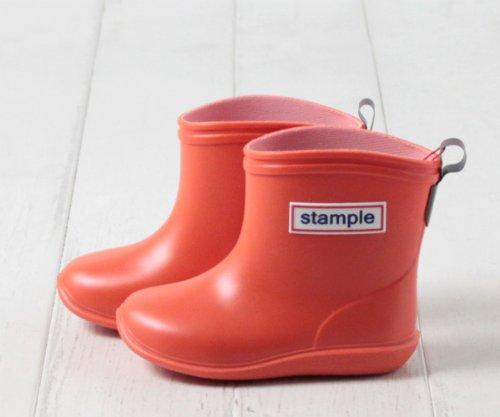 (スタンプル) Stample 日本製 レインブーツ[キッズ・ジュニア] 75005 16cm オレンジ 国産 子供 KIDS 男の子 女の子 男女兼用 長靴 長ぐつ