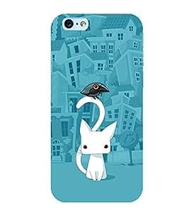 Cat Cartoon 3D Hard Polycarbonate Designer Back Case Cover for Apple iPhone 6 Plus :: Apple iPhone 6+