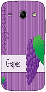 Snoogg Bright Organic Purple Grape Card In Vector Format Solid Snap On - Back...
