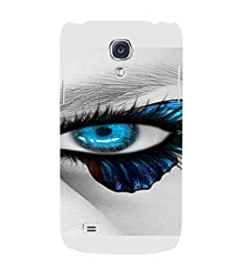 PrintVisa Blue Eyes Design 3D Hard Polycarbonate Designer Back Case Cover for Samsung Galaxy S4