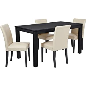 Dining Table Furniture Black And Cream Dining Table