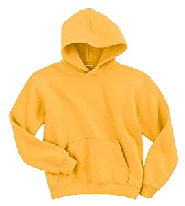 50/50 Youth Hooded Sweatshirt, Color: Gold, Size: Medium
