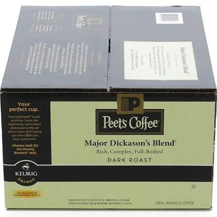 Peet's Coffee Major Dickasons Single Cup Capsule (1 Pack of 76 Count) (Keurig Coffee Yuban compare prices)