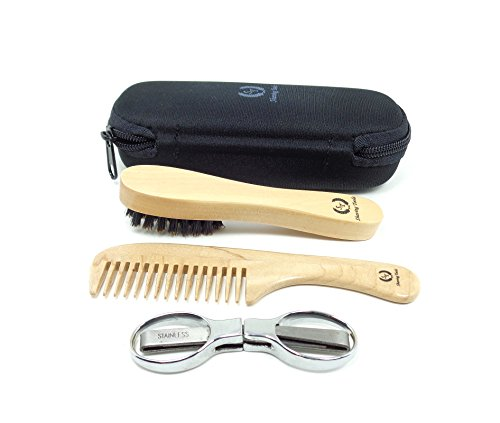 shaving toolz beard and moustache grooming kit with folding scissors health beauty personal care. Black Bedroom Furniture Sets. Home Design Ideas