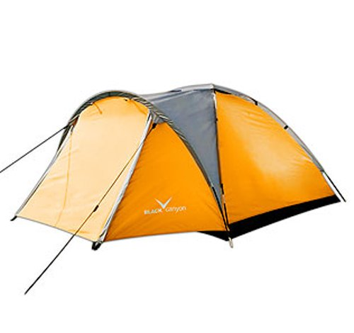 black canyon trekking zelt outdoor orange 3 personen. Black Bedroom Furniture Sets. Home Design Ideas