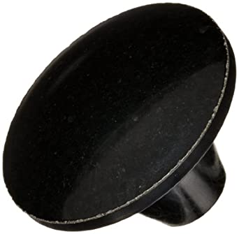 "DimcoGray Black Phenolic Push-Pull Knob Female, Brass Insert: 3/8-16"" Thread x 1/2"" Depth, 1-13/16"" Diameter x 1-3/16"" Height x 5/8"" Hub Dia x 7/8 Hub Length (Pack of 10)"