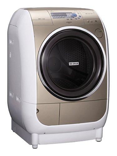 HITACHI うれしい仕上がりビッグドラム ドラム式洗濯乾燥機 シャンパン BD-V1-N