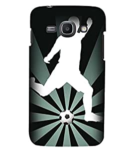 Printvisa Footballer Vector Pic Back Case Cover for Samsung Galaxy Ace 3::Samsung Galaxy Ace 3 S7272