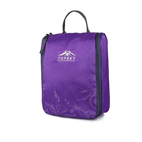 sac de lavage de Voyage extérieur / sac à cosmétiques fournitures essentielles / admission forfait de voyage-violet