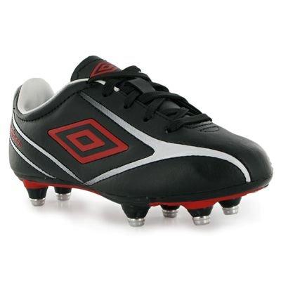 Umbro Radley SG Childrens Football Boots Black/Red/White 12 Child UK UK