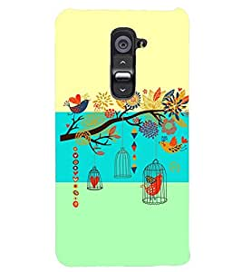 PRINTSWAG BIRD WITH TREE Designer Back Cover Case for LG G2