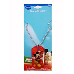 Mickey Mouse Charm Necklace - Disney Character Dog Tag Necklace