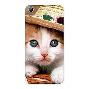 Enticing Premium Cute Hats Cat Multicolor Back Case Cover for HTC Desire 826