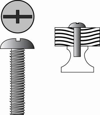 Metric thread screw (Bag of 20)