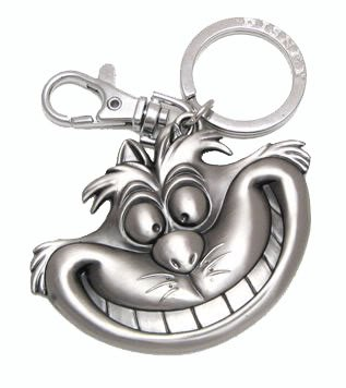 Alice in Wonderland - Cheshire Cat Pewter Keychain