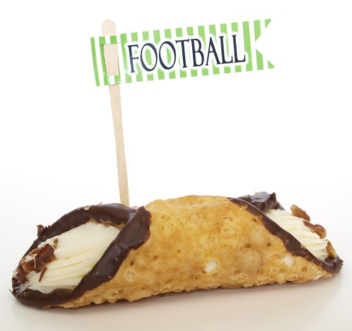 """Football"" Drink Mixers Cupcake Toppers, Green (Set Of 12) - Ice Cream Sundays, Malts, And Slushies front-960952"