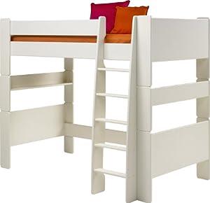 Steens for Kids, Hochbett, Liegefläche 90x200, teilbar, MDF weiß