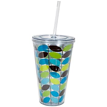 Aqua Leaf Double Wall Tumbler