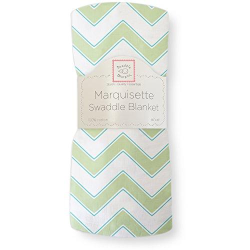 Swaddledesigns Marquisette Swaddling Blanket, Chevron, Kiwi