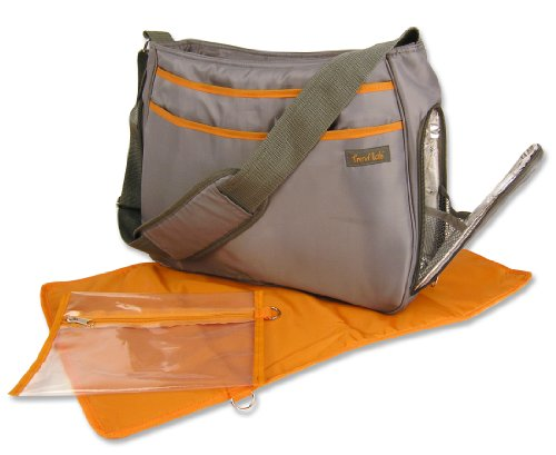 Trend Lab Ultimate Diaper Bag, Gray/Orange