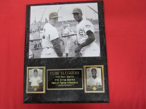 Ron Santo Ernie Banks Chicago Cubs 2 Card Collector Plaque w/8x10 RARE Photo at Amazon.com