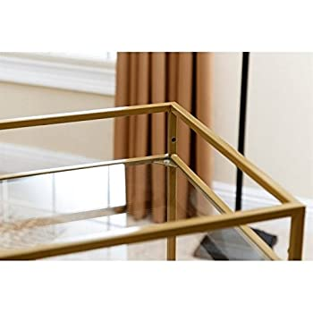 ABBYSON LIVING Marriot Gold Kitchen Bar Cart