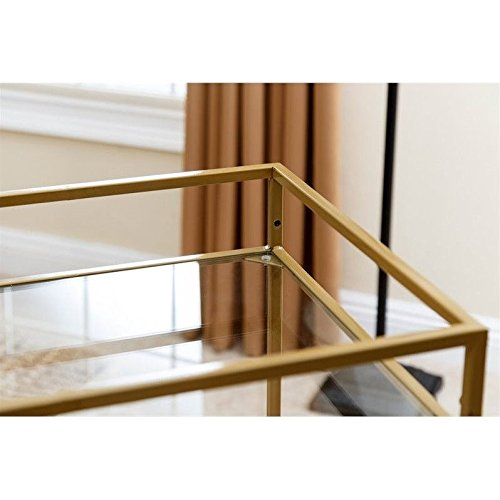 ABBYSON LIVING Marriot Gold Kitchen Bar Cart 1