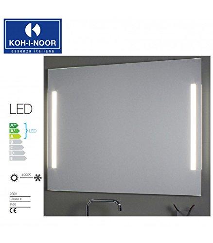Koh-I-Noor L45901 Specchio Illuminazione Laterale LED 180X, Cromo