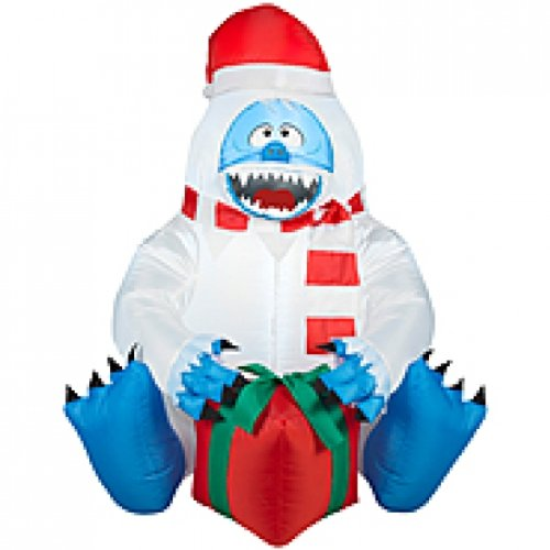Inflatable Abominable Snowman with Present