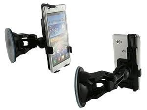 Mobilitii 2 in 1 Auto Kfz- Halterung für LG P880 Optimus 4X HD Smartphone plus KFZ-Ladekabel