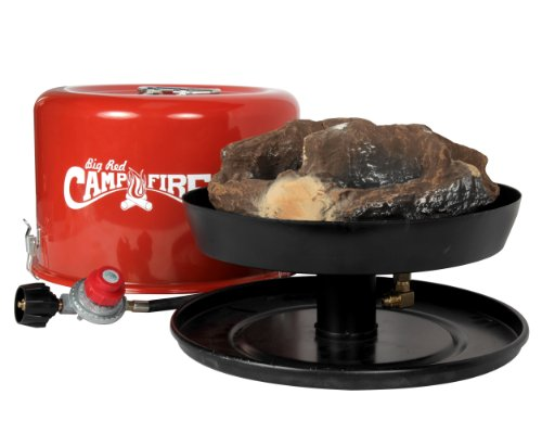 """Camco 58035 """"Big Red Campfire"""" Propane Camp Fire front-601350"""