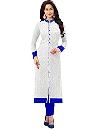 Rensil Women's Clothing Designer Party Wear New Year Special Low Price Sale Offer Top Tunic Russel Net Dress White...