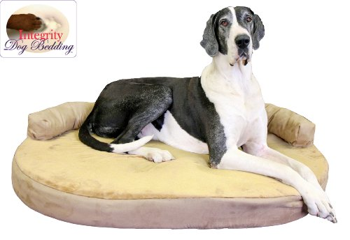 X-Large Orthopedic Memory Foam Joint Relief Bolster Dog Bed - Toffee