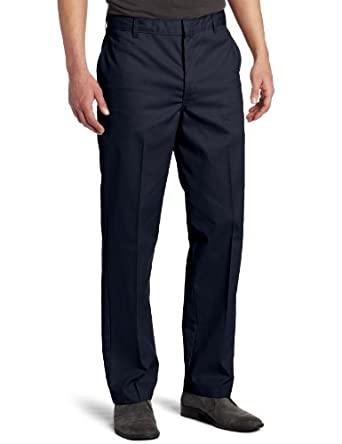 Dickies Men's Flat Front Pant, Dark Navy, 28X30