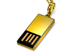 Super Talent Pico-C 32 GB USB 2.0 Flash Drive STU32GPCG (Gold)