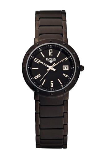 ELYSEE EUNIKE 33025 - Reloj de mujer de cuarzo, correa de acero inoxidable color negro