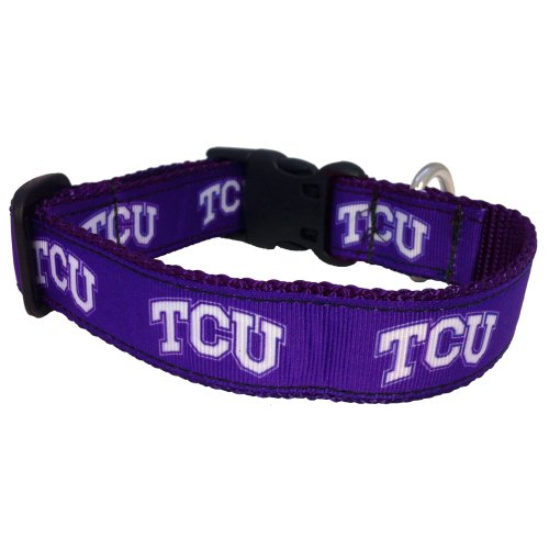 NCAA TCU Horned Frogs Dog Collar (Team Color, Medium)