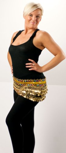 Belly Dance Hip Scarf - Gold Coins