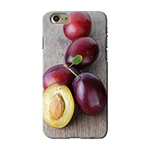 ArtzFolio Ripe Plums With Leaves : Apple iPhone 7 Matte Polycarbonate ORIGINAL BRANDED Mobile Cell Phone Protective BACK CASE COVER Protector : BEST DESIGNER Hard Shockproof Scratch-Proof Accessories : Food & Beverage