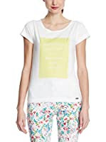 Figl Camiseta Manga Corta (Blanco / Amarillo)