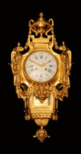 An Amazing 19th Century, Louis XV Style, French Gold Plated Bronze Wall Clock Signed Preyat Paris on the Face of the Clock and Stamped S. Marti - Medaille de Bronze on the Mechanism, Stunning !!