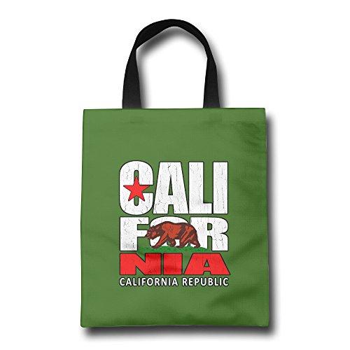 CRB Cali Caliblic Vintage Text Asst Bear Flag Reusable Shopping Bags White Sonoma Canvas Shorts