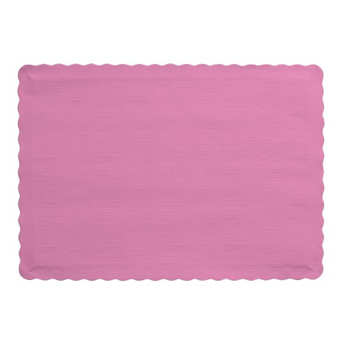 Creative Converting 50 Count Touch of Color Paper Placemats, Candy Pink